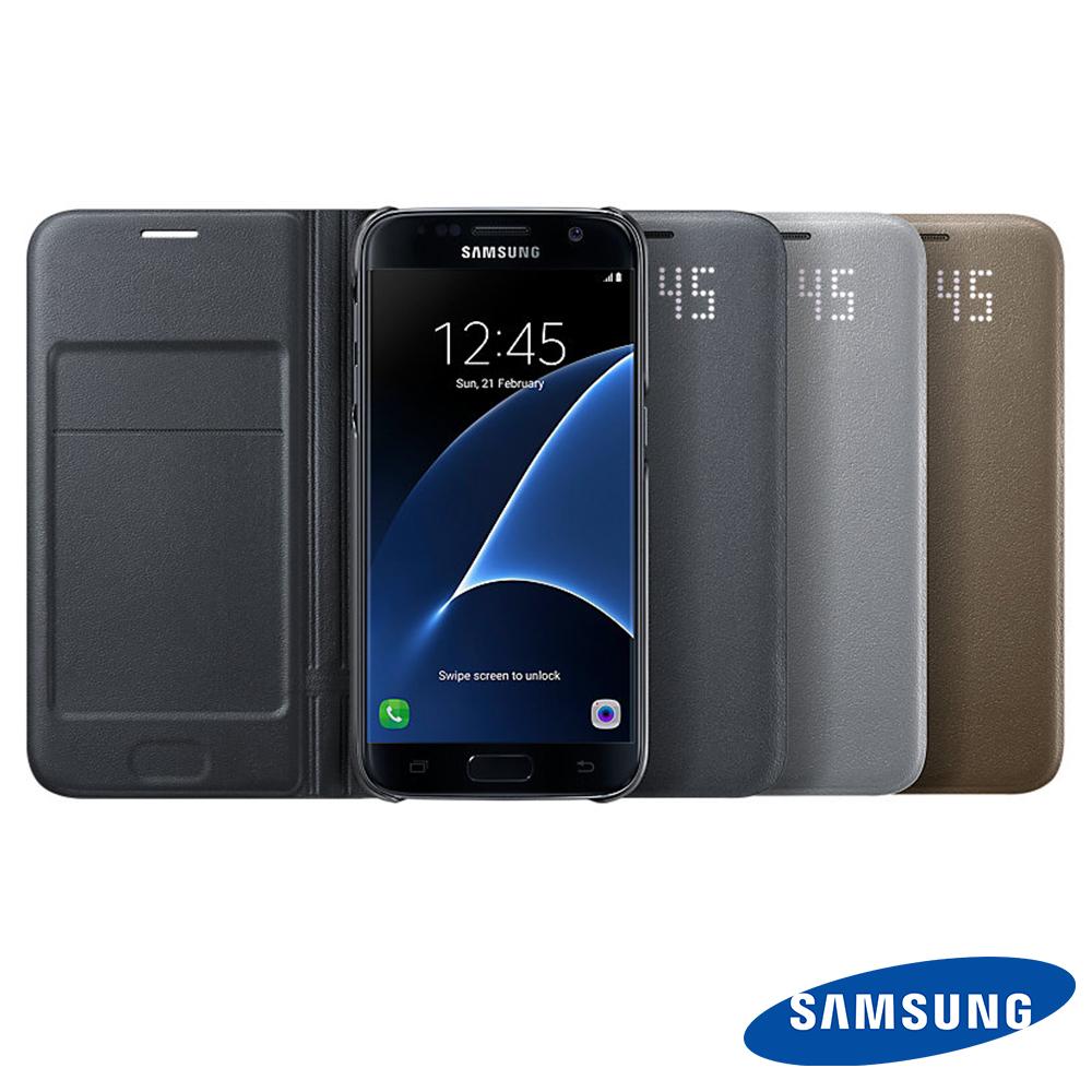 SAMSUNG Galaxy S7 原廠LED皮革翻頁式皮套