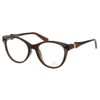 SWAROVSKI-貓眼水鑽 光學眼鏡(咖啡色)SW4075