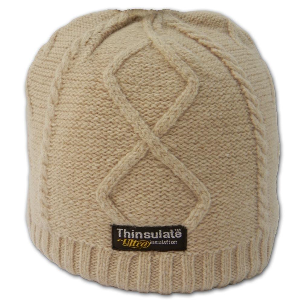 【SNOW TRAVEL】台灣製3M Thinsulate高級素面麻花保暖羊毛帽