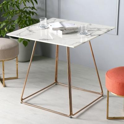H&D coral 卡洛大理石方型餐桌_80.5*80.5*77cm