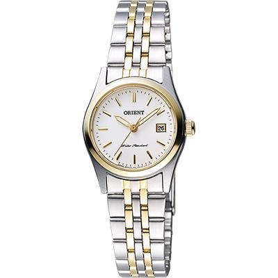 ORIENT 東方錶 優雅復刻石英女錶-白x半金/26mm