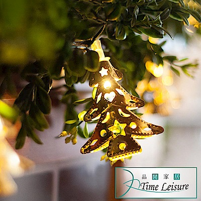 Time Leisure LED派對佈置/耶誕聖誕燈飾燈串(金屬聖誕樹/暖白/2M)