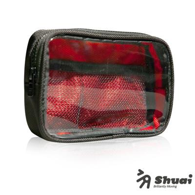 Shuai P1 Series Tough 超撞色萬用收納包-黑紅
