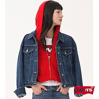 牛仔外套 女裝 兩件組 連帽外套和牛仔外套可獨立穿 - Levis