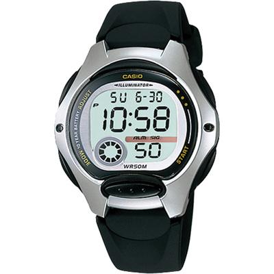 CASIO 超時空玩家電子錶(LW-200-1A)-銀框/34.9mm