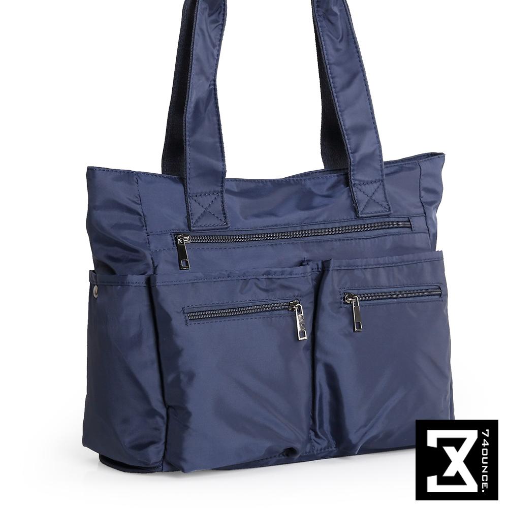 74盎司 雙口袋側背手提肩背包[TG-160]深藍