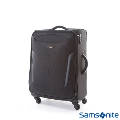 Samsonite新秀麗22吋-SPHERO滑順靜音四輪大容量軟殼布面行李箱-黑