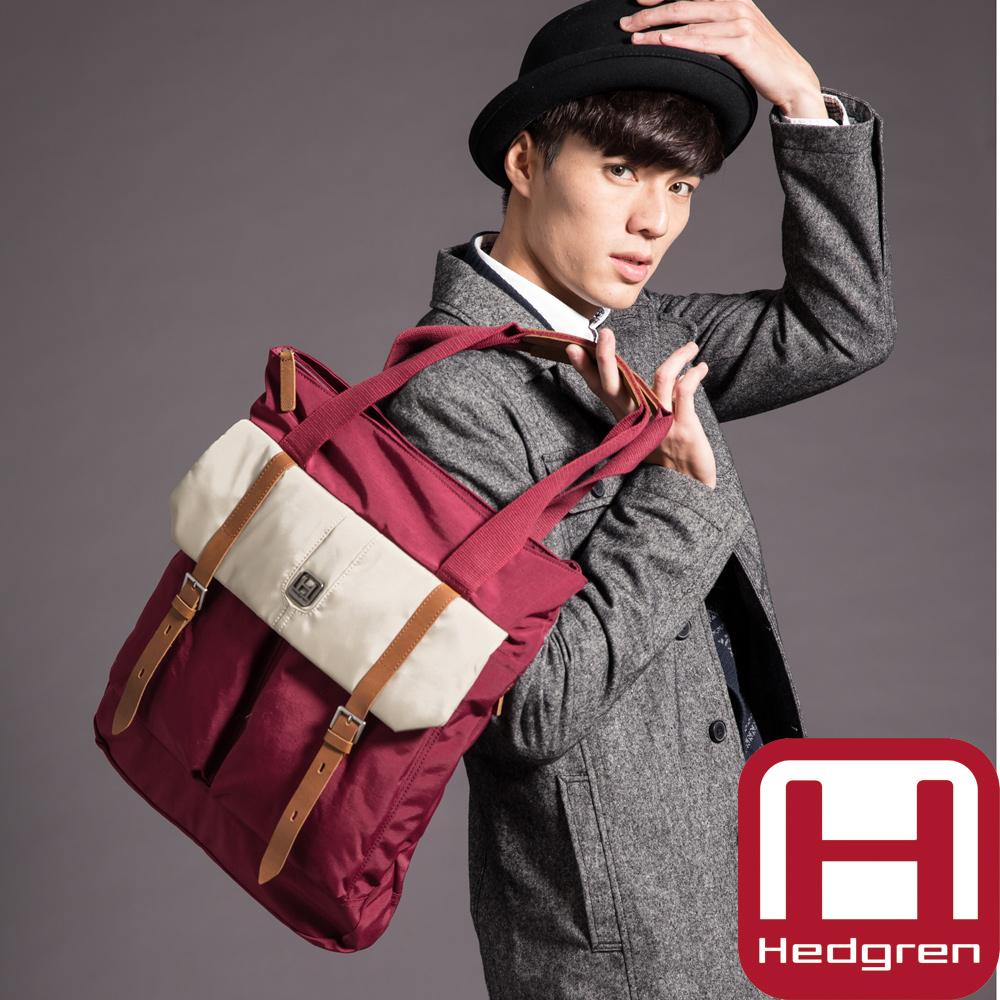 HEDGREN HRI-Ride it 輕騎系列-韓風輕巧手提托特包-紅酒色