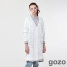 gozo波卡點幾合異想針織長罩衫(二色)