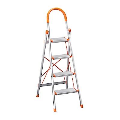 H&D 鋁製四層步梯 (寬39X深75X高144cm)