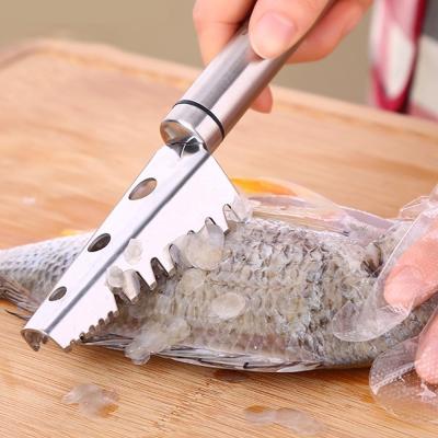 PUSH!廚房用品加厚304不鏽鋼刨魚鱗器殺魚刮魚刀刮鱗器去魚鱗工具D68