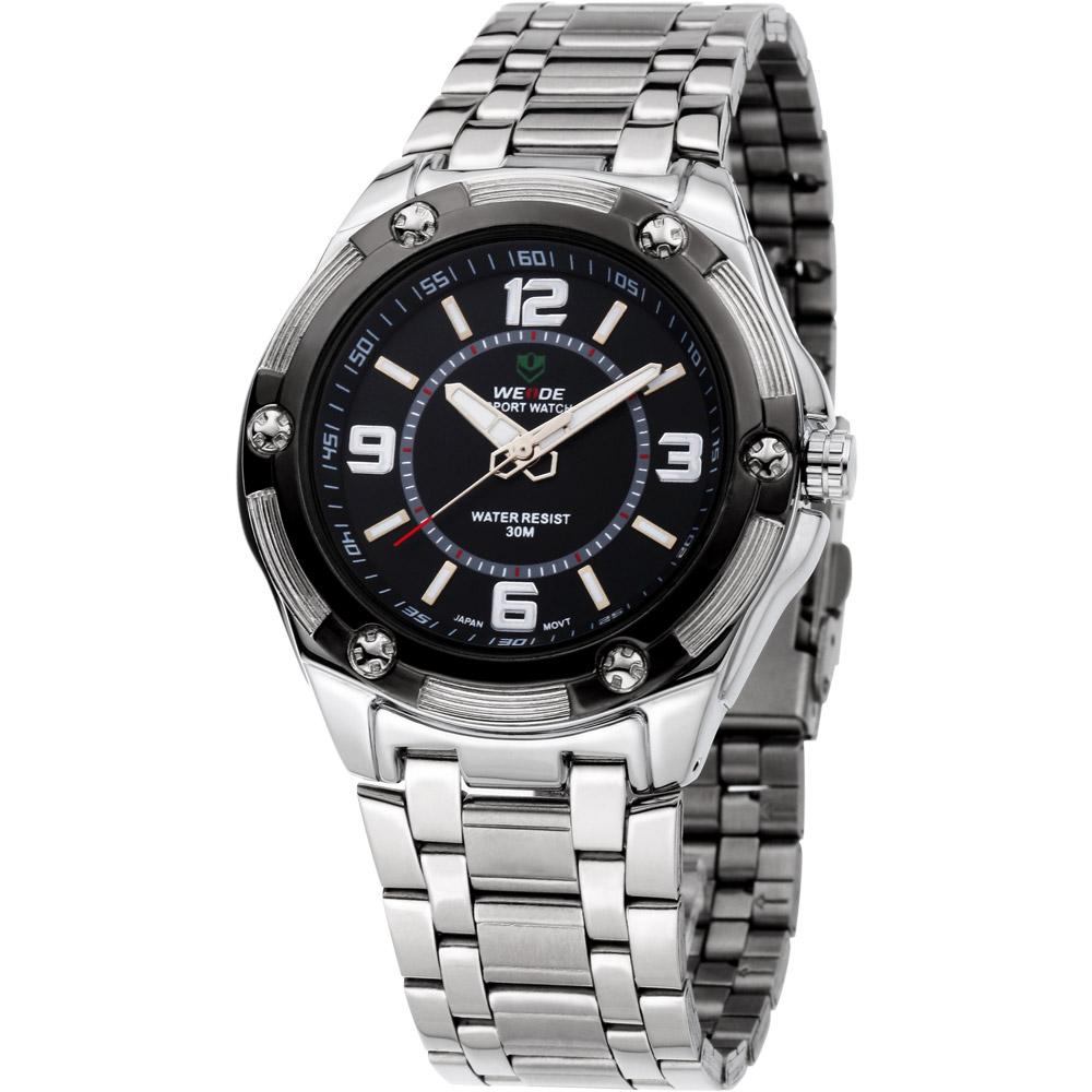A1 奔馳關頭輪框造型流行腕錶-黑/45mm