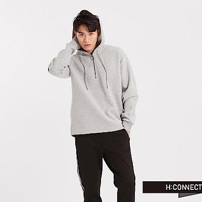 H:CONNECT 韓國品牌 男裝 - 太空棉連帽T-Shirt-灰