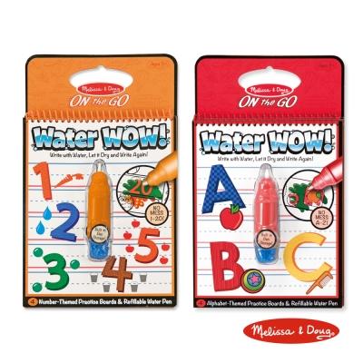 美國瑪莉莎 Melissa & Doug 神奇水畫冊 英文字母A-Z + 數字1-20