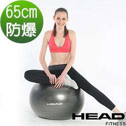 HEAD 專業防爆瑜珈球65cm-銀灰