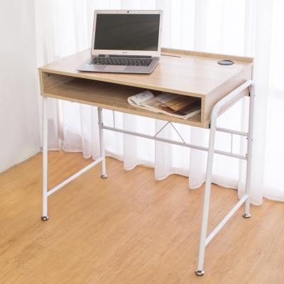 Boden-凱爾線孔工作桌/書桌(白橡色)-DIY 84x54x76cm
