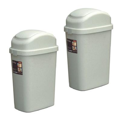 9L中簡約垃圾桶(二入)組