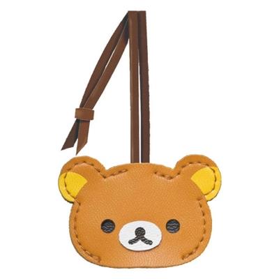 拉拉熊懶熊皮革質感系列鑰匙套。懶熊