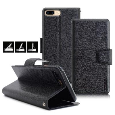 XM iPhone 8 Plus / 7 Plus 5.5吋 品味時尚牛皮支架皮...