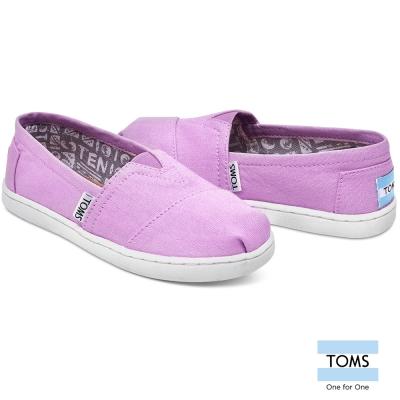 TOMS-經典帆布懶人鞋-孩童款-薰衣草紫