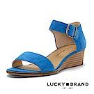LUCKY BRAND--一字魚口楔型涼鞋-耀眼藍