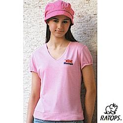 【瑞多仕-RATOPS】女 竹纖維紗V領短袖排汗衫_DB7557 淺粉紅 V