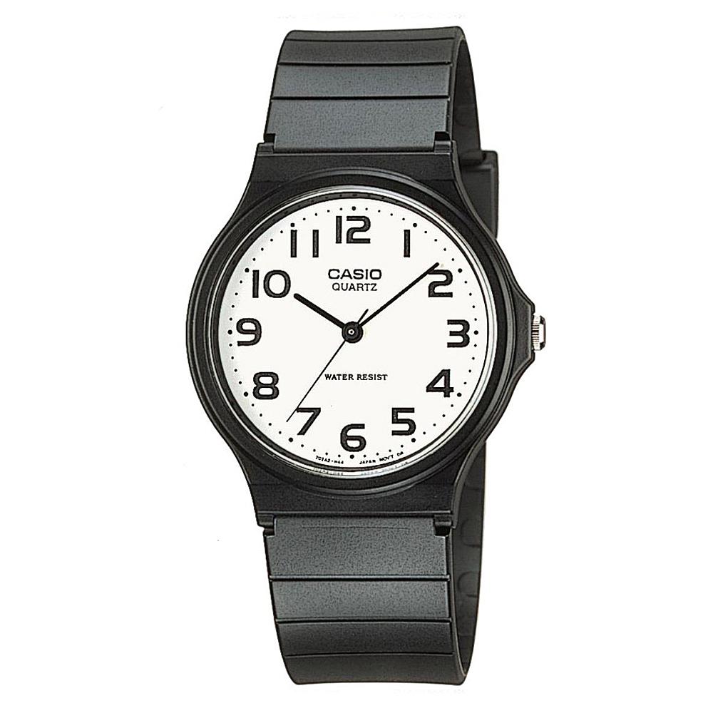 CASIO 超輕薄感數字錶(MQ-24-7B2)-白x黑數字