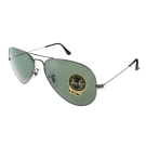 RAY BAN太陽眼鏡 經典品牌/槍銀-綠色#RB3025 W0879