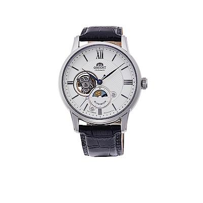 ORIENT 日本 東方錶 心靈致動 月相機械錶(RA-AS0005S)白/42mm