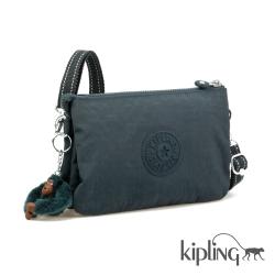 Kipling 斜背包 孔雀藍素面-小