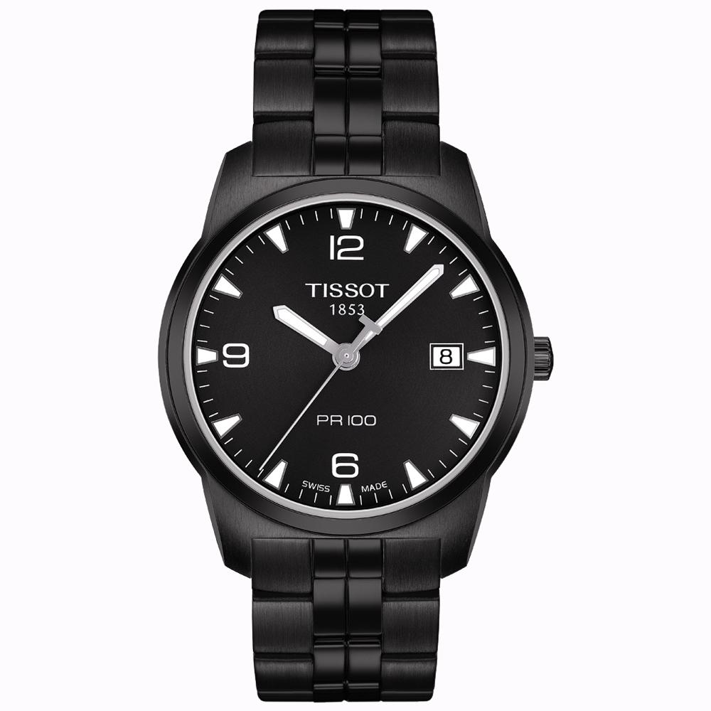 TISSOT  PR100 瑞士時尚腕錶(T0494103305700)-IP黑/38mm