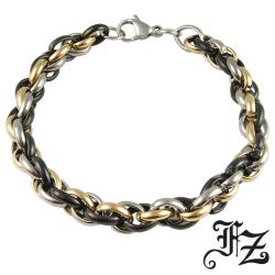 FZ 環環相扣白鋼手鍊(3色系)