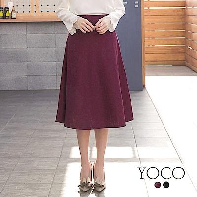 東京著衣-yoco 復古美人優雅滿版蕾絲中長裙-S.M.L(共二色)