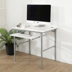 BuyJM鏡面白低甲醛粗管鍵盤電腦桌/寬80cm-DIY