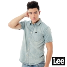Lee 牛仔短袖襯衫Vintage Laundry系列-男款-淺藍色