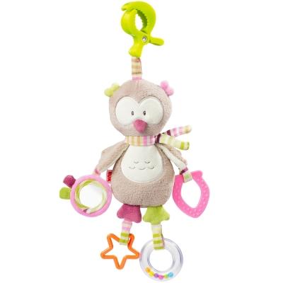 德國NUK絨毛玩具-貓頭鷹多功能吊掛式固齒玩偶
