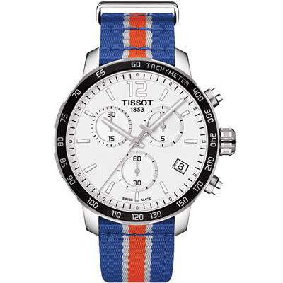 TISSOT Quickster X NBA 紐約尼克隊特別版計時腕錶-42mm