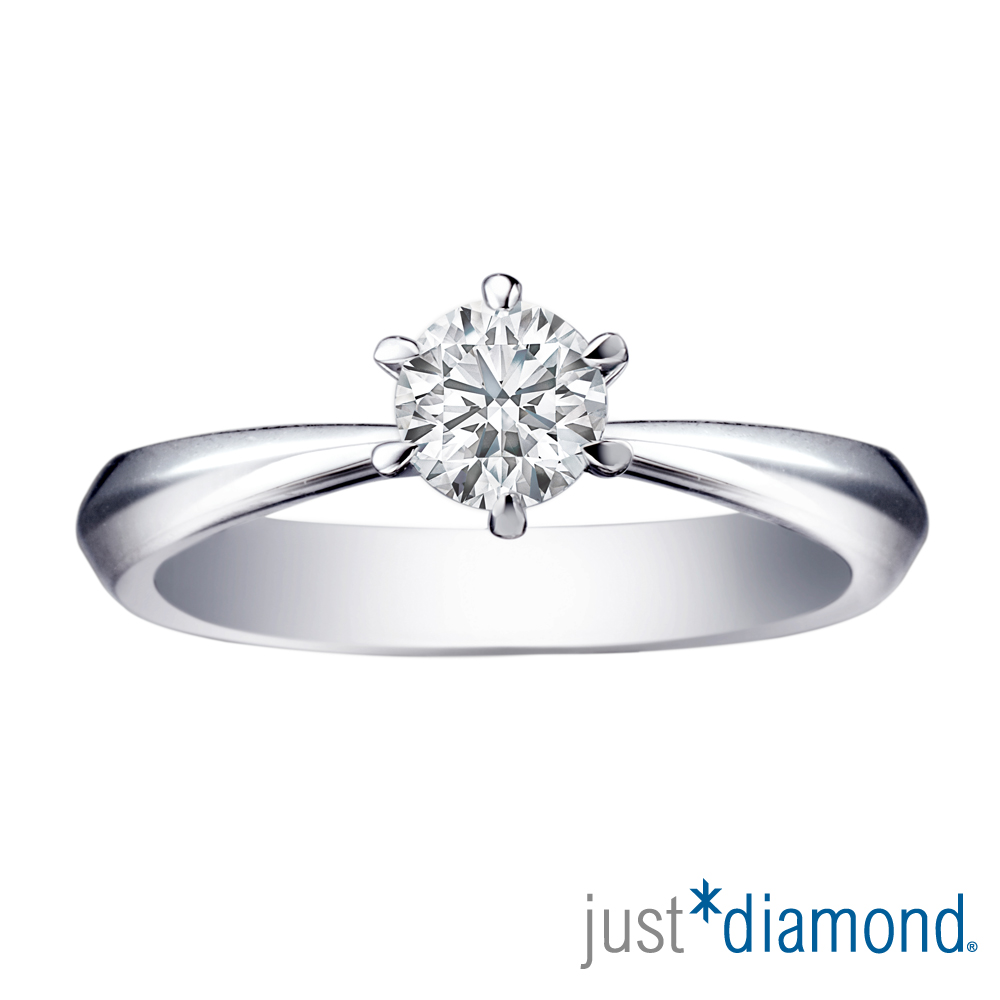 Just Diamond 30分18K金鑽石戒指-鍾愛一生