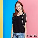 YIDIE衣蝶-水鑽雪紡顯瘦蝴蝶袖上衣