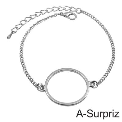 A-Surpriz 典藏光圈造型手鍊(白K色)