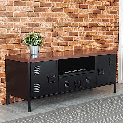 Homelike 米特鋼製二門電視櫃-120x40x49cm