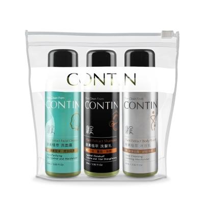 CONTIN康定 酵素植萃旅行組(沐浴乳+洗髮乳+洗顏露)
