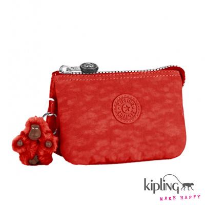 Kipling-手拿零錢包-印度朱紅素面