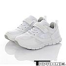TOPUONE童鞋 輕量透氣抗菌防臭吸震運動休閒鞋-白布鞋-白