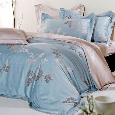 義大利La Belle 輕風飄絮 加大天絲八件式兩用被床罩組
