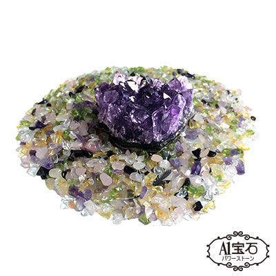A1寶石  日本頂級天然五行紫水晶簇(含開光-單入組)