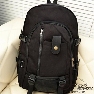 DF BAGSCHOOL ~ 復古日系 款 帆布後背包~黑色