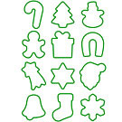 TESCOMA PP掛環餅乾切模12件(聖誕吊飾)