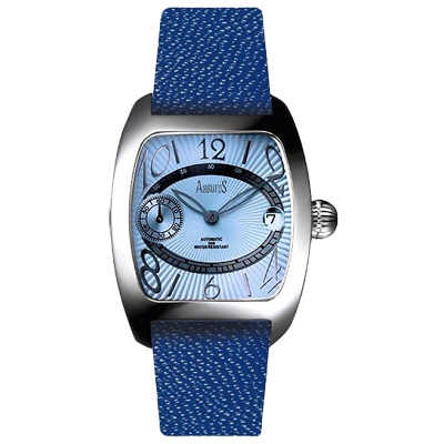 ARBUTUS愛彼特鋒芒再現真皮機械手錶-藍/35mm