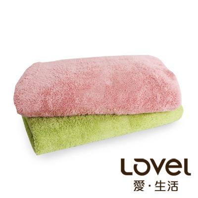 LOVEL 7倍強效吸水抗菌超細纖維浴巾2入組(共9色)